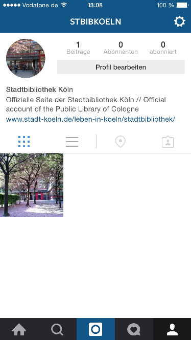 Instagram Account Der Stadtbibliothek
